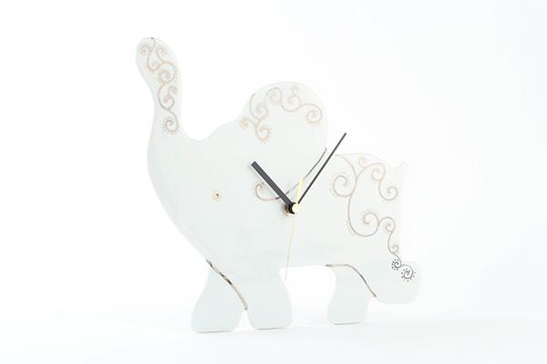 ゾウの時計シルバー