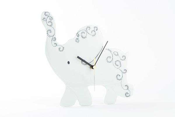ゾウの時計ブラック