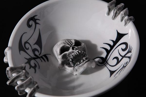 スカル灰皿